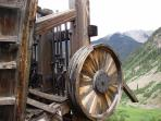 Remnants of  metal mill in La Plata Canyon