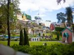 Portmeirion is not far up the coast