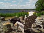 Lakeside Firepit and Patio