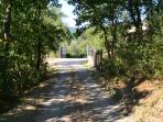100 meters of private road leading up to the secluded property