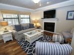 Comfortable Living Room with Queen Sleeper Sofa
