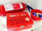 Safety first! We have fire extinguishers and first-aid kit, here you are safe!