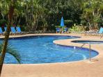Beautiful well maintained pool and Hot Tub next to the condo