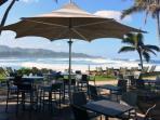 Beach side bar 5 minute WALK away!