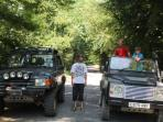 Hire our land rovers with driver to explore this amazing area includes great off roading.