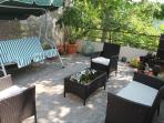 Communal sitting area, great for morning coffee or evening wine. Sometime we like to share a BBQ