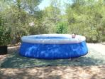 The pool - unheated. Perfect for cooling down on hot days.