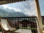Enjoy your drink on a balcony with one of the most spectacular mountain views in the world.