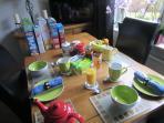 pleasant simple breakfast