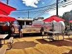 Hungry? Gourdough's famous doughnut food truck is right nearby!