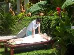 Thai massage in the garden