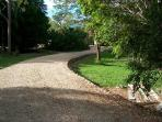 Driveway towards house