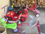 Lots of riding toys for the younger guests to enjoy