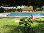 garden and communal swimming pool