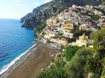 reaching Positano from the Path of good