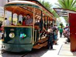 NEARBY:  Free solar-powered tram from the Cruise Ship Terminal through downtown Oranjestad.
