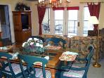 Living Room and Dining Room with beautiful view of Table Rock Lake