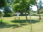 Part of garden and play area