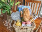 A welcome hamper awaits you upon arrival with our compliments