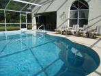 Relax in the Florida sun in our secluded south facing pool