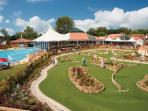 Outdoor area pool and crazy golf