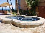 Relax in the hot tub and enjoy the ocean view at the same time.