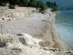 beach with little round stone 50-60 meters from apartment