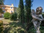 Romantic spot park in front Villa Colombaia