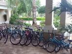 Bike hire at the clubhouse