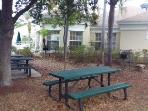 BBQ and picnic area at the clubhouse