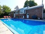 Backyard, patio and pool area