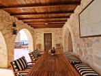 lounging and dining is the shaded veranda with great views