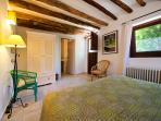 The Olive bedroom - with own entrance to the garden and ensuite (double/twin). Wheelchair friendly