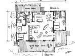 House 1 floor plan showing bed arrangements