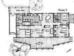 House 4 floor plan showing bed arrangements