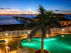 Pool Overlooks Beach and Pier