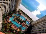 Pool, Beach & Gulf Aerial View