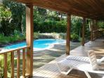 Back deck and pool