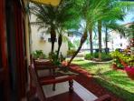 Private lounge patio