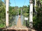 Peterson creek swinging bridge