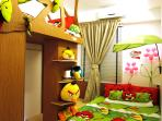 Garden Room - young children favorite room design, climb up to loft from the 'tree trunk' steps