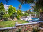 Garden | Montana Sea View Villa Naxos