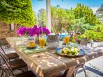 Outdoor Dining Area | Montana Sea View Villa Naxos