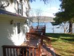 Outside Deck with lake view