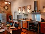 Fully equipped kitchen with seating for up to 8 people