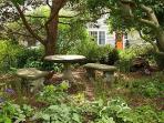 A hidden corner in the garden.