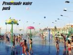 Water park on promenade