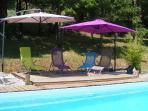 La piscine à partager avec Badou