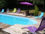 La piscine à partager avec Badounette