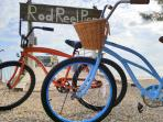 2 bicycles are available for rent, stored right on the property, and we can arrange for more...